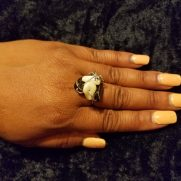 Black Stone Pearlie Ring