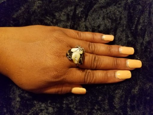 Black Stone Pearlie Ring