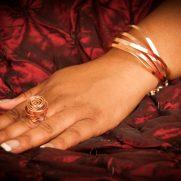 Copper Arch Cuff Bracelet & Copper Twist Ring