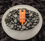 Two-Tone Orange Clothespin Ring